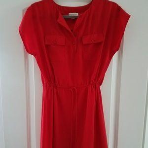 Red Drawstring Dress